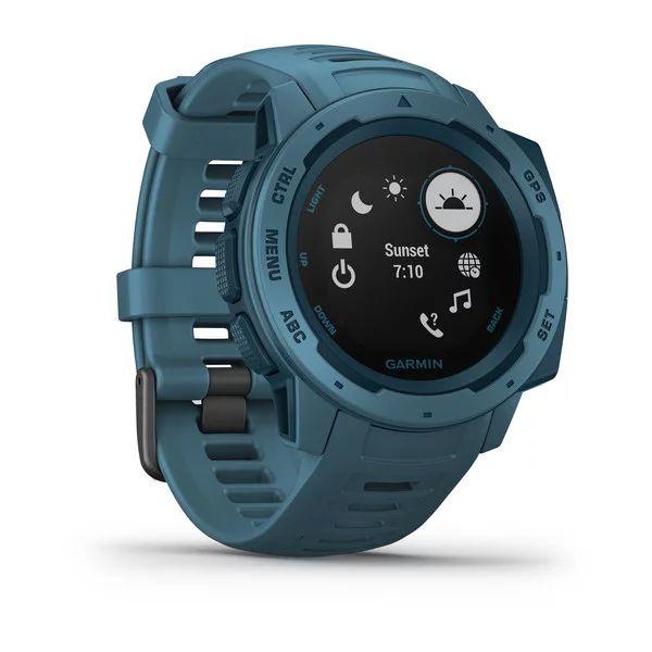 Прочные GPS-часы Garmin Instinct Lakeside Blue цены gps навигаторы garmin