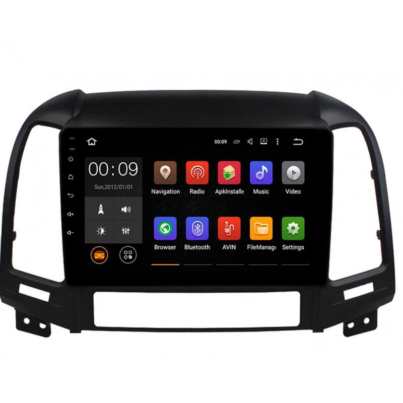 Штатная магнитола Roximo 4G RX-2008 для Hyundai SantaFe 2 (Android 6.0) (+ Камера заднего вида в подарок!)
