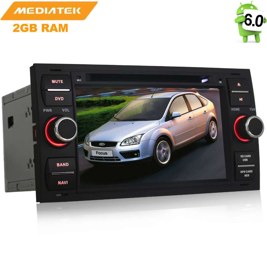 Штатная магнитола для Ford Focus II 2005-2008, C-Max, S-Max, Galaxy, Mondeo, Kuga I 2008-2013 LeTrun 1946 Android 6.0.1 2pcs canbus led license plate light 18led lamps for ford focus fiesta mondeo mk4 kuga galaxy s max c max mk2 da3 mk3 mk5 mk6