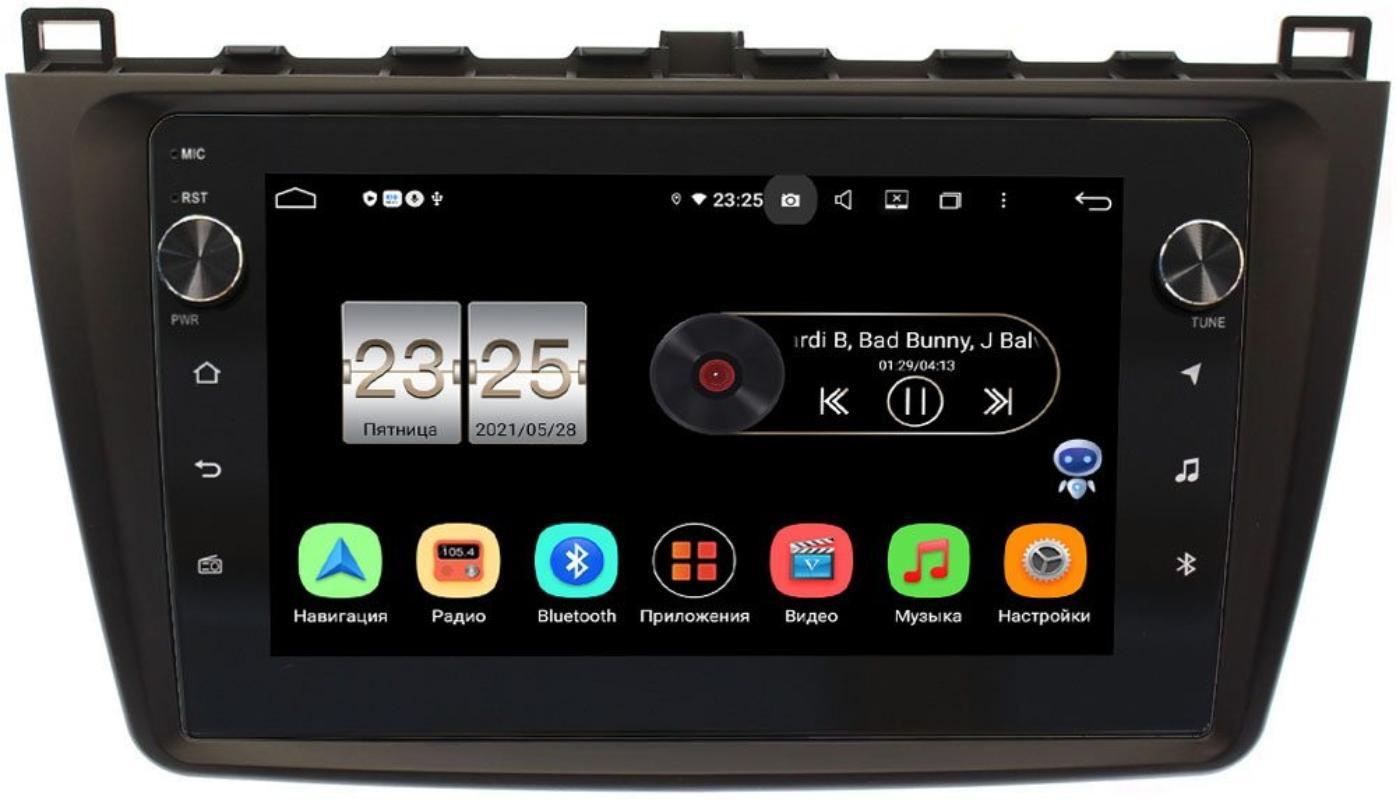 Штатная магнитола Mazda 6 (GH) 2007-2012 LeTrun BPX409-9033 на Android 10 (4/32, DSP, IPS, с голосовым ассистентом, с крутилками) (+ Камера заднего вида в подарок!)