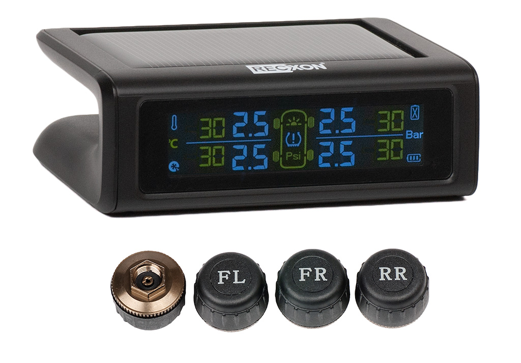 Внутренние датчики давления в шинах RECXON GT external - (TPMS) professional solar power car tpms lcd display tire pressure monitoring system with 4 internal sensors bar psi support
