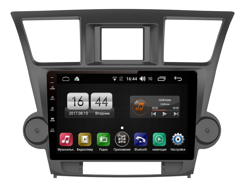 Штатная магнитола FarCar s195 для Toyota Highlander 2007-2013 на Android (LX035R) (+ Камера заднего вида в подарок!)