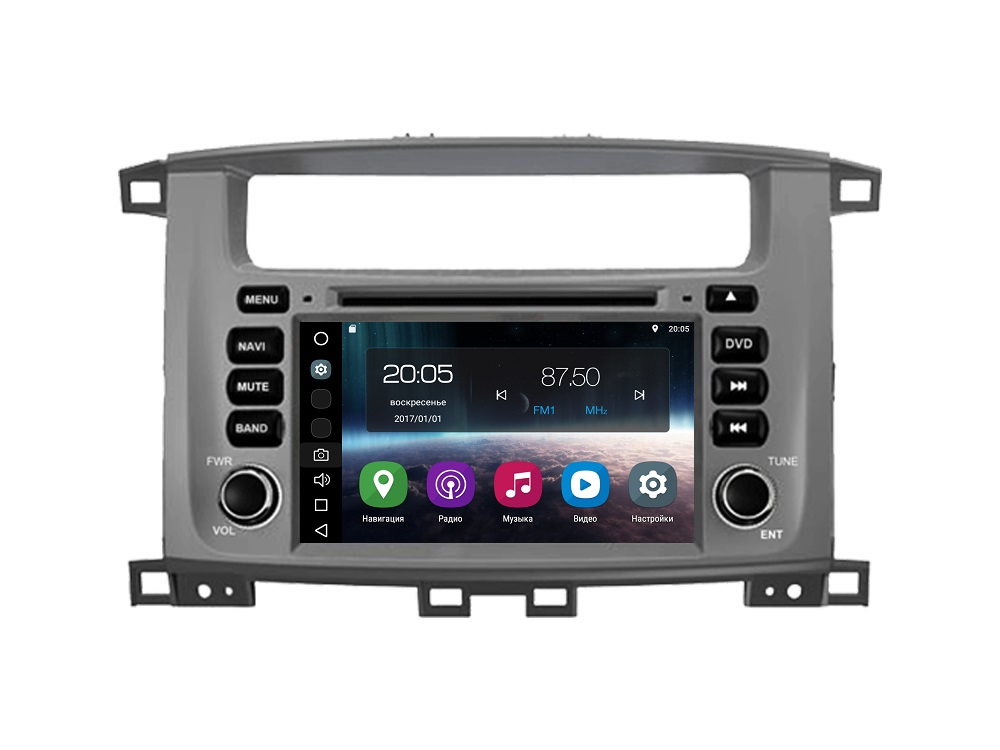 Штатная магнитола FarCar s200 для Toyota Land Cruiser 100, Lexus LX 470 на Android (V457) штатная магнитола farcar s200 для toyota land cruiser prado 150 2014 на android v347r dsp