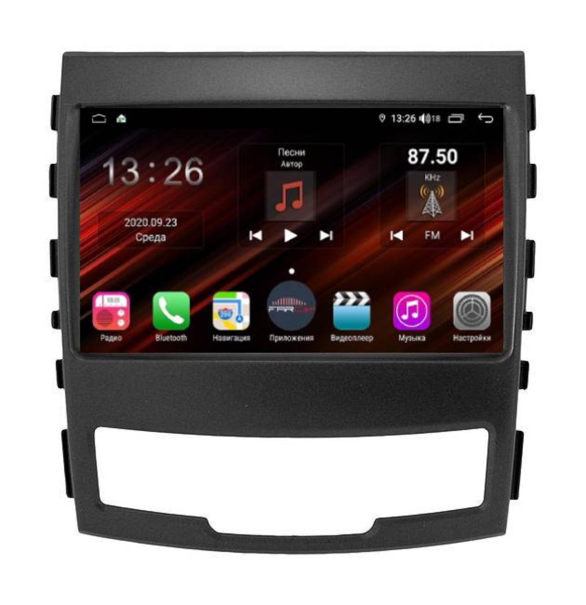 Штатная магнитола FarCar s400 Super HD для Ssang Yong Actyon new на Android (XH159R) (+ Камера заднего вида в подарок!)
