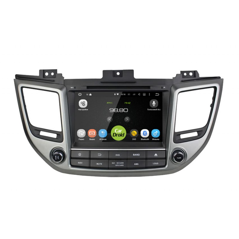 цена на Штатная магнитола Roximo CarDroid RD-2012D для Hyundai ix35, Tucson 2016 (Android 8.0) DSP (+ Камера заднего вида в подарок!)