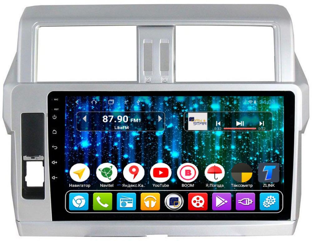 Магнитола для Toyota Prado 150 2014-2018 DAYSTAR DS-7047HB-TS9 (+ Камера заднего вида в подарок!) штатное головное устройство daystar ds 7047hb toyota prado 150 2013 android 6 4 ядра