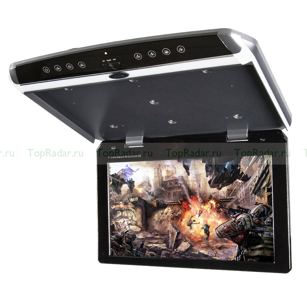 Фото - Автомобильный потолочный монитор 17.3 со встроенным Full HD медиаплеером ERGO ER173FH (+ Двухканальные наушники в подарок!) матрас diamond rush cocos ergo 40sm 160x200x43 см