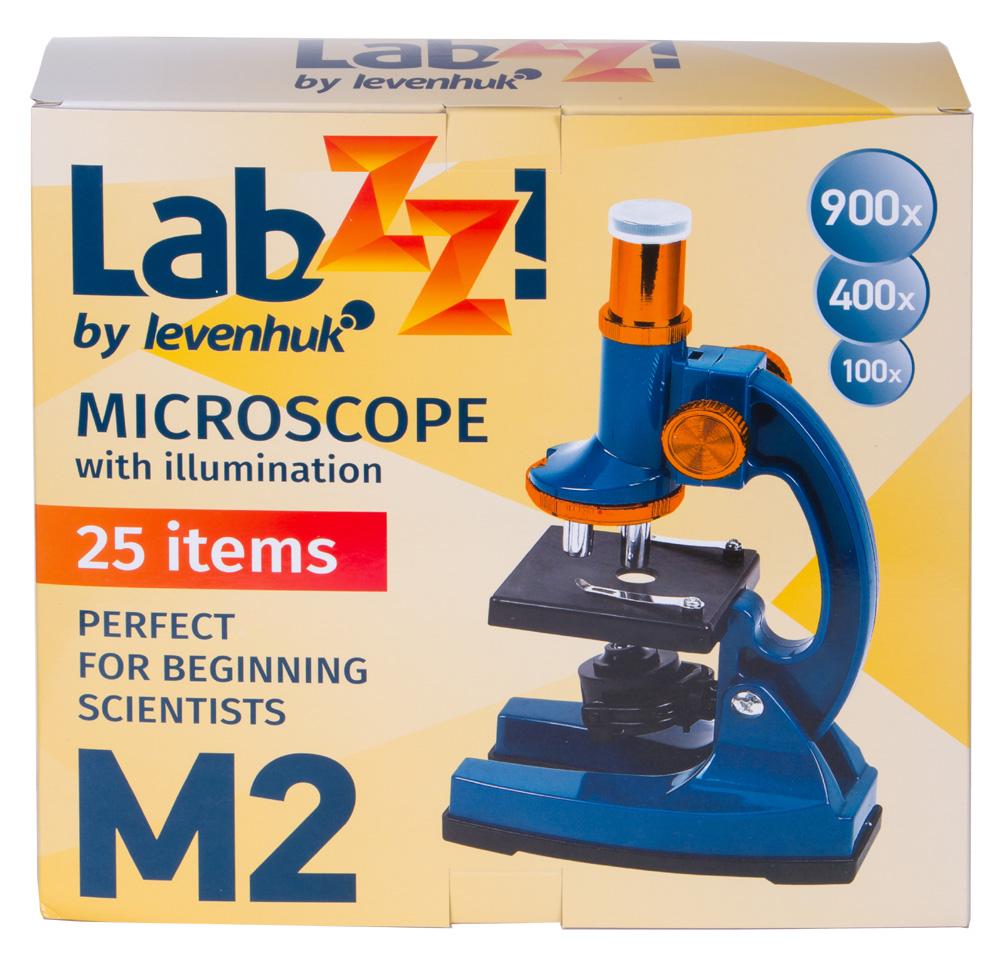 Фото - Микроскоп Levenhuk LabZZ M2 (+ Салфетки из микрофибры в подарок) набор для опытов bondibon телескоп вв1682