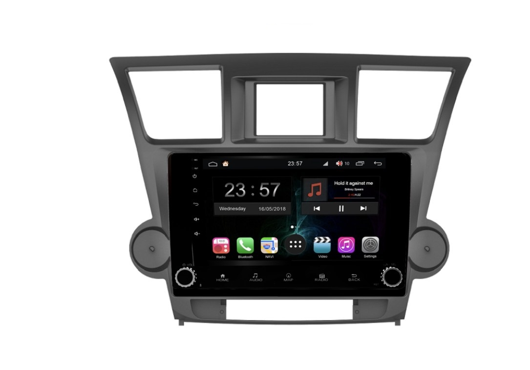 Штатная магнитола FarCar s300-SIM 4G для Toyota Highlander на Android (RG035RB) (+ Камера заднего вида в подарок!) штатная магнитола farcar s160 для toyota highlander на android m467bs