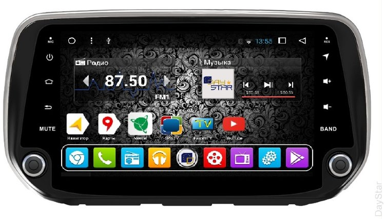 Штатная магнитола DayStar DS-7008HB Hyundai Santa Fe (2018+) ANDROID 8.1.0 (8 ядер, 2Gb ОЗУ, 32Gb памяти) + 3G модем (+ камера заднего вида и 3G модем) штатная магнитола daystar ds 7011hd hyundai solaris android 8 1 0 8 ядер 2gb озу 32gb памяти