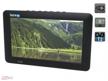 Фото - Портативный телевизор 9 DVB-T2 AVS090CM (+ Разветвитель в подарок!) подарок первокласснику