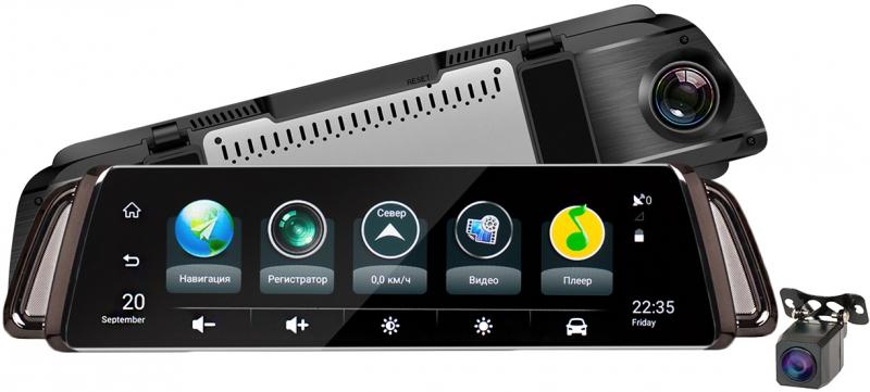 Видеорегистратор-зеркало на 2 камеры Recxon Panorama V3 (+ Разветвитель в подарок!)