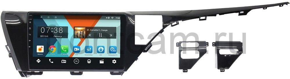 Штатная магнитола Toyota Camry V70 2018-2019 (для авто без камеры) Wide Media MT1053MF-1/16 на Android 7.1.1 (+ Камера заднего вида в подарок!)