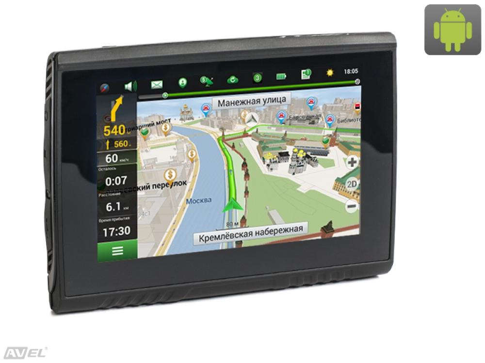Навигатор для мотоцикла DRC055A с экраном 5 на ОС Android (+ Разветвитель в подарок!)