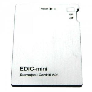 Диктофон Edic-mini CARD16 A91 цена и фото