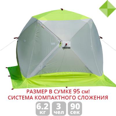 Зимняя палатка Лотос Куб 3 Компакт ЭКО палатка лотос пикник 1000