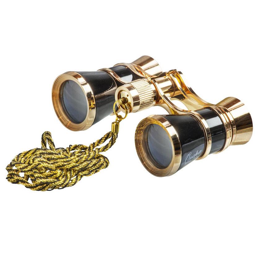 Фото - Бинокль театральный Veber Opera БГЦ 3x25, черно-золотистый, с цепочкой бинокль театральный veber opera бгц 3x25 красно золотистый с цепочкой