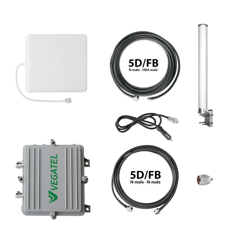 Готовый комплект усиления сотовой связи для водного транспорта VEGATEL AV2-900E/1800/3G-kit