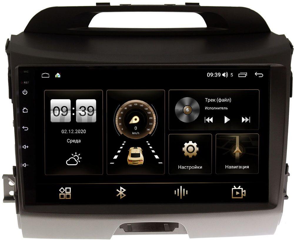Штатная магнитола Kia Sportage III 2010-2016 для авто с камерой LeTrun 3792-9072 на Android 10 (4/64, DSP, QLed) С оптическим выходом (+ Камера заднего вида в подарок!)