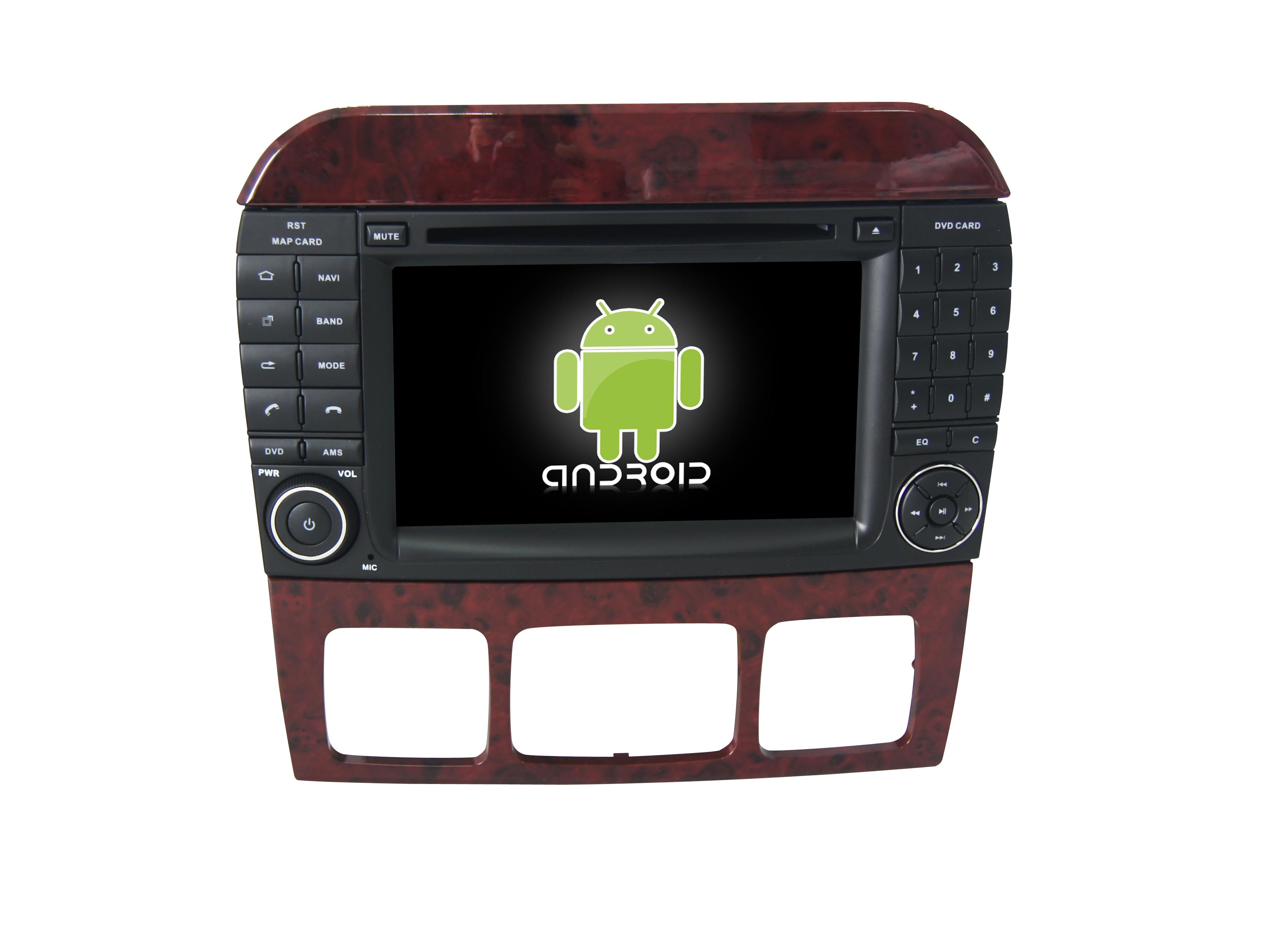 Штатная магнитола CARMEDIA KR-7105-T8 для Mercedes S-класс 1998-2005 (W220) Android 7.1.2 vivibright gp90 lcd projector 3200 lumens android 4 44 os