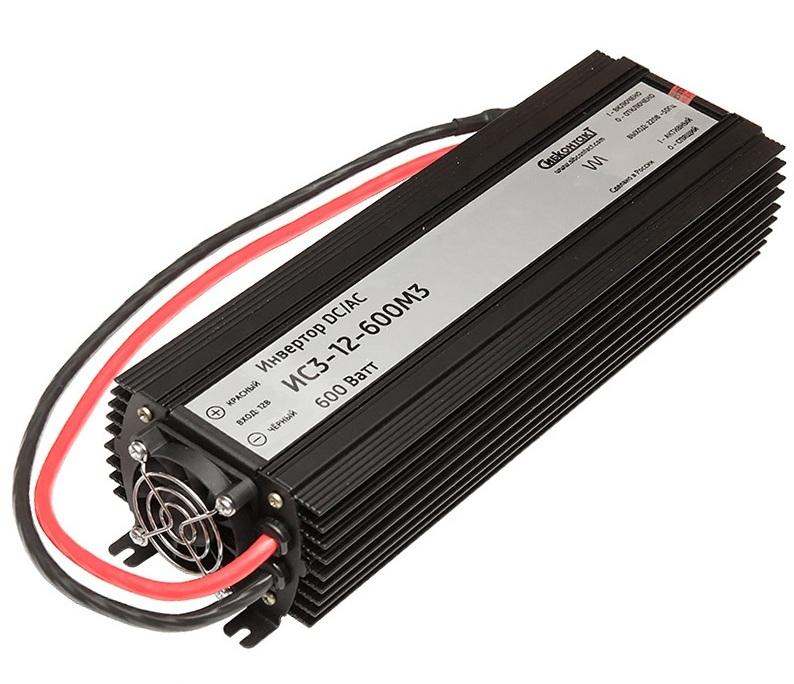Инвертор ИС3-12-600 DC-AC, 12В/600Вт