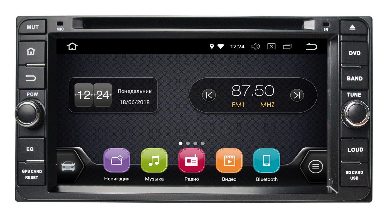 Штатная магнитола InCar TSA-2240 для Toyota универсальная (Android 8.0) штатная магнитола incar tsa 2243 для toyota camry 2014 2015 android 8 0