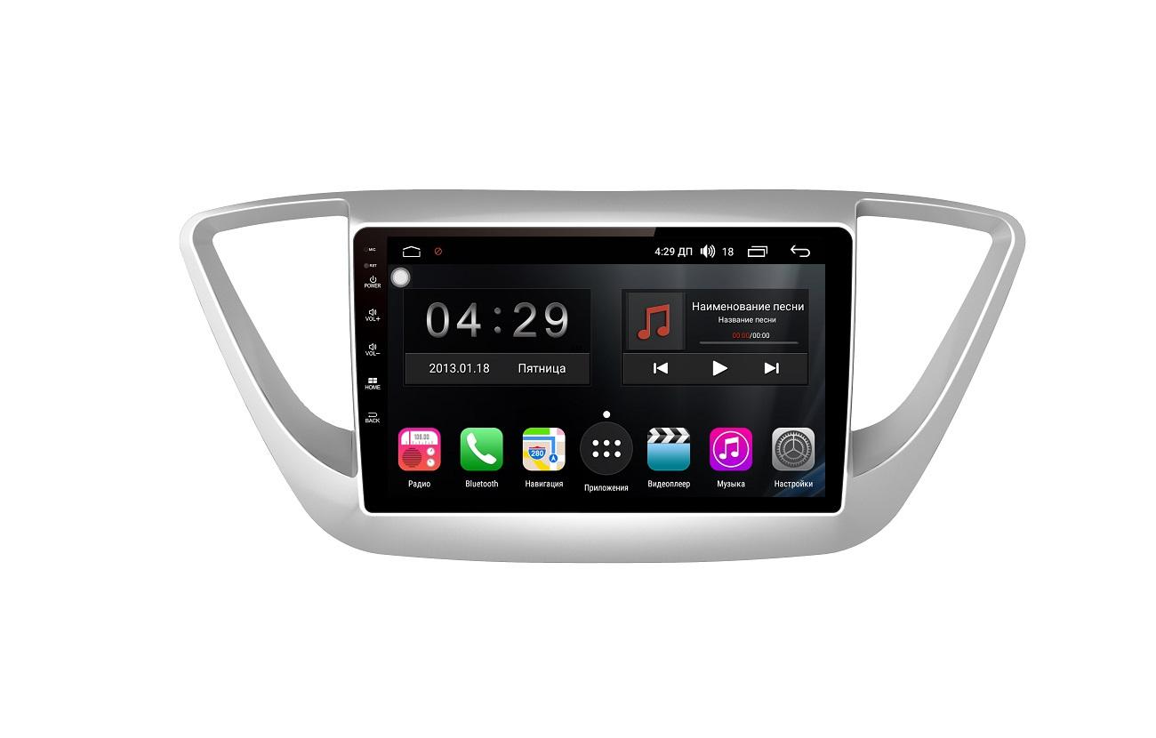 Штатная магнитола FarCar s200+ для Hyundai Solaris на Android (A766R) штатная магнитола farcar s200 для hyundai tucson на android v546r dsp