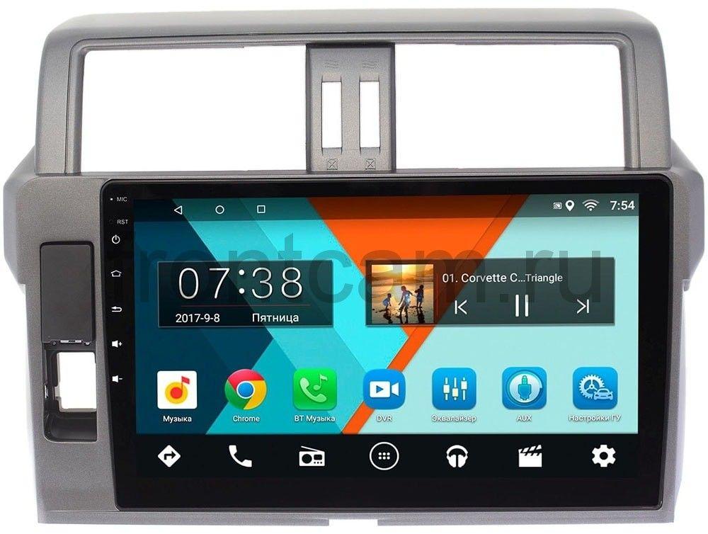Штатная магнитола Toyota Land Cruiser Prado 150 2013-2017 Wide Media MT1007MF-1/16 на Android 7.1.1 (для авто без 4 камер) (+ Камера заднего вида в подарок!)