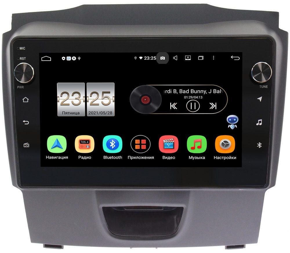 Штатная магнитола Isuzu D-Max II 2012-2021 (тип 1) LeTrun BPX409-9054 на Android 10 (4/32, DSP, IPS, с голосовым ассистентом, с крутилками) (+ Камера заднего вида в подарок!)