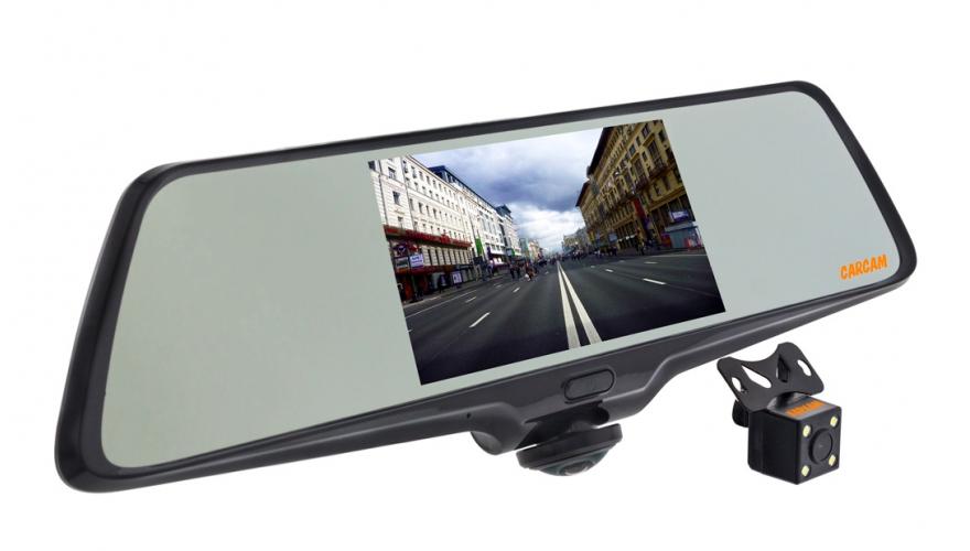 Видеорегистратор-зеркало КАРКАМ Z-360 (+ Разветвитель в подарок!) каркам f1 автомобильный видеорегистратор