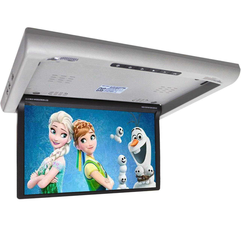 Фото - Потолочный монитор для автомобиля с электроприводом XM 1760RDUD Серый (+ Салфетки из микрофибры в подарок) подсветка для зеркал brilliant andaluz 90011 13