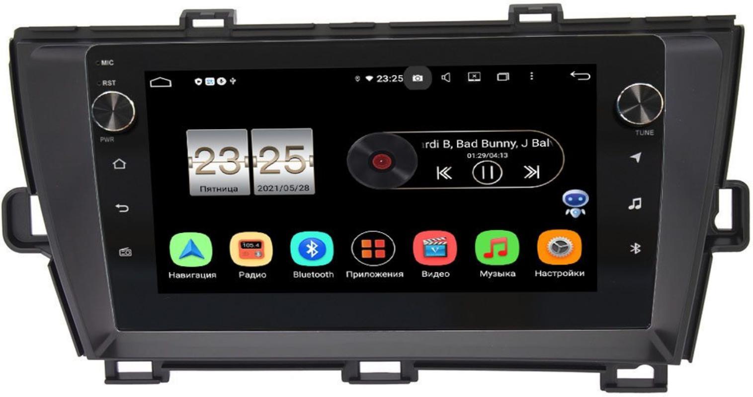 Штатная магнитола LeTrun BPX409-9210 для Toyota Prius III (XW30) 2009-2015 (левый руль) на Android 10 (4/32, DSP, IPS, с голосовым ассистентом, с крутилками) (+ Камера заднего вида в подарок!)