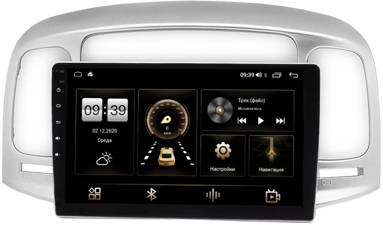Штатная магнитола LeTrun 4166-9-069 для Hyundai Accent III, Verna II 2005-2010 на Android 10 (4G-SIM, 3/32, DSP, QLed) (+ Камера заднего вида в подарок!)