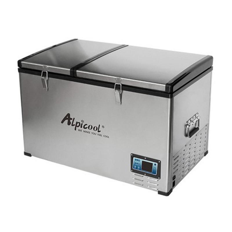 Автохолодильник компрессорный двухкамерный Alpicool BCD80 (12/24/220В) (+ Аккумулятор холода в подарок!)