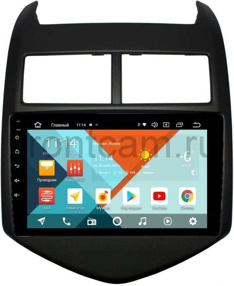 Штатная магнитола Wide Media KS9009QR-3/32 DSP CarPlay 4G-SIM для Chevrolet Aveo II 2011-2018 на Android 10 (+ Камера заднего вида в подарок!)