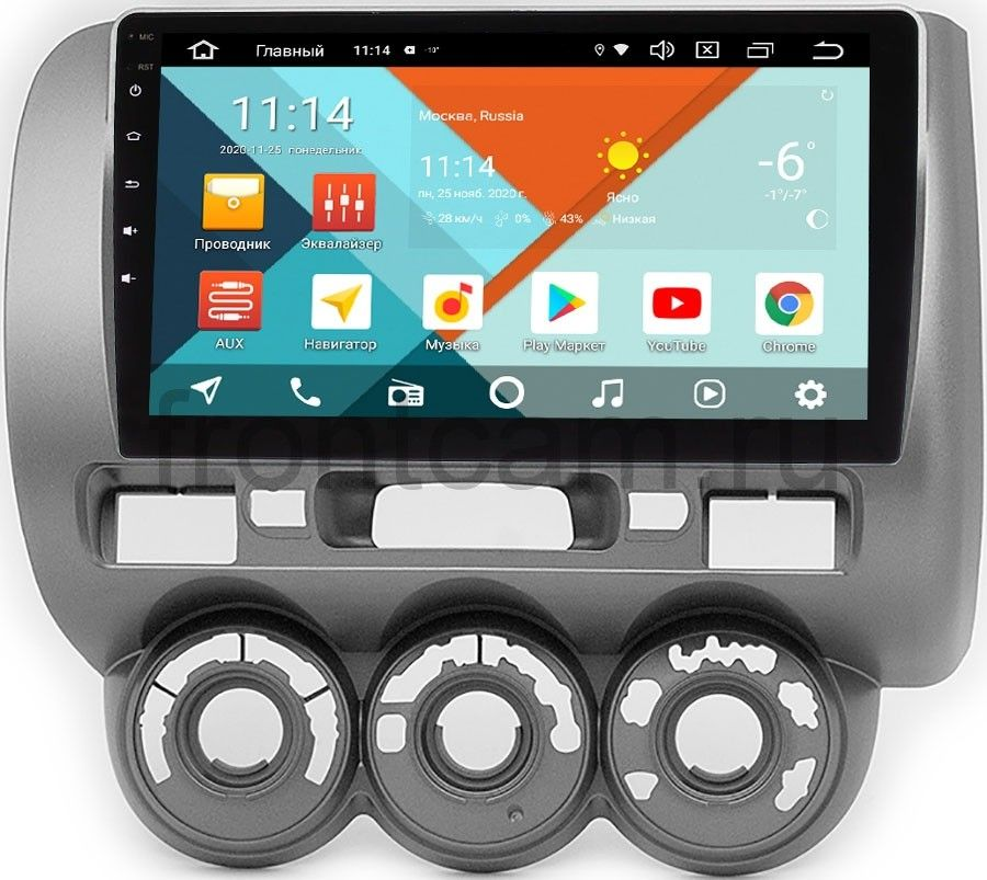 Штатная магнитола Honda Fit I, Jazz I 2001-2008 (лев.руль) Wide Media KS9-464QR-3/32 DSP CarPlay 4G-SIM на Android 10 (+ Камера заднего вида в подарок!)