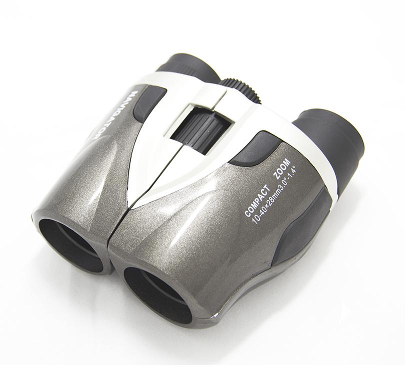 Бинокль Navigator 10-40х28, серебристо-серый (+ Салфетки из микрофибры в подарок)