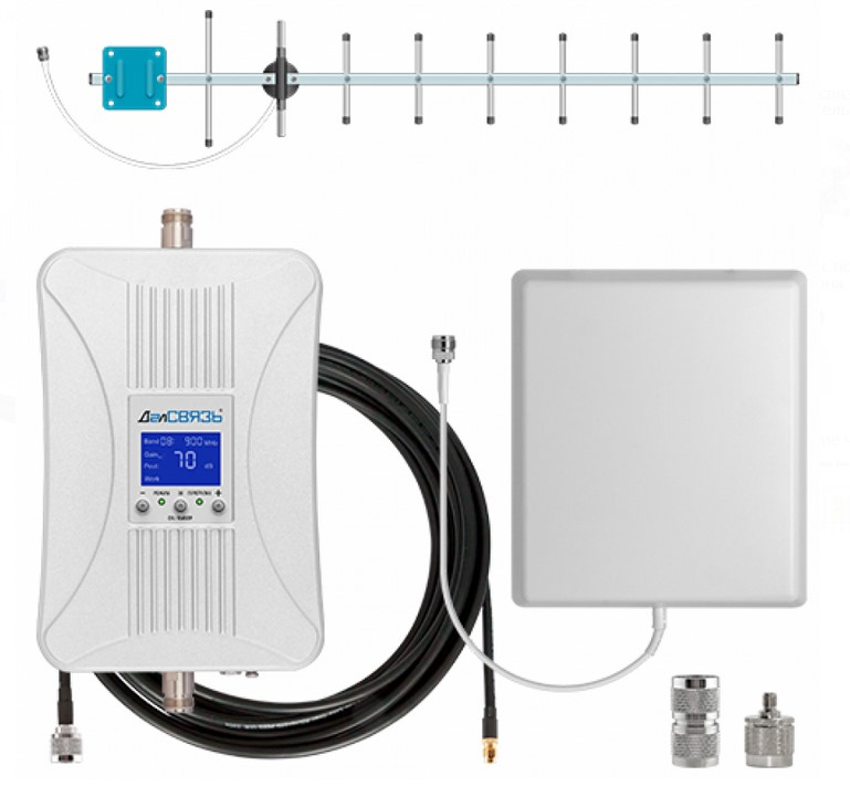 Усилитель GSM сигнала сотовой связи ДалСВЯЗЬ DS-900-20 C2 (+ Кронштейн в подарок!)