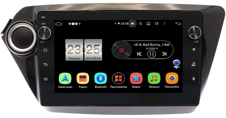 Штатная магнитола Kia Rio III 2011-2017 LeTrun BPX409-9011 на Android 10 (4/32, DSP, IPS, с голосовым ассистентом, с крутилками) (+ Камера заднего вида в подарок!)