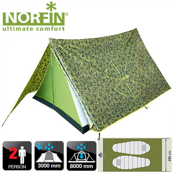 все цены на Палатка 2-х местная Norfin TUNA 2 NC онлайн