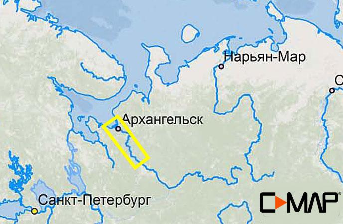 Карта C-MAP RS-N517 - Северная Двина низовье