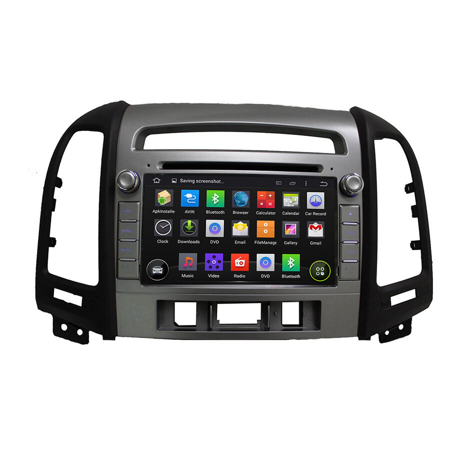 Штатная магнитола для Hyundai Santa Fe II 2006-2010 (3 кнопки) CARMEDIA KR-7031-3-T8 на Android 7.1 fit for kawasaki zx10r 2006 2007 2008 2009 2010 zx 10r motorcycle cnc footrests rear foot pegs foot pedal pegs bracket sets