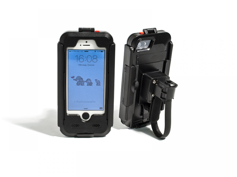 Водонепроницаемый чехол DRC5IPHONE (черный) для iPhone 5/5S/SE цена