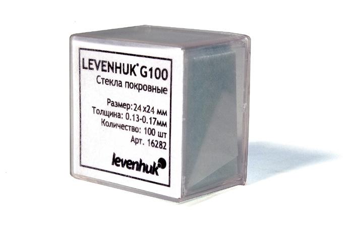 Стекла покровные Levenhuk G100, 100 шт. фото