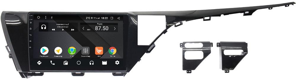 Штатная магнитола Toyota Camry V70 2018-2019 Wide Media CF1053-OM-4/64 на Android 9.1 (TS9, DSP, 4G SIM, 4/64GB) (для авто без камеры) (+ Камера заднего вида в подарок!)