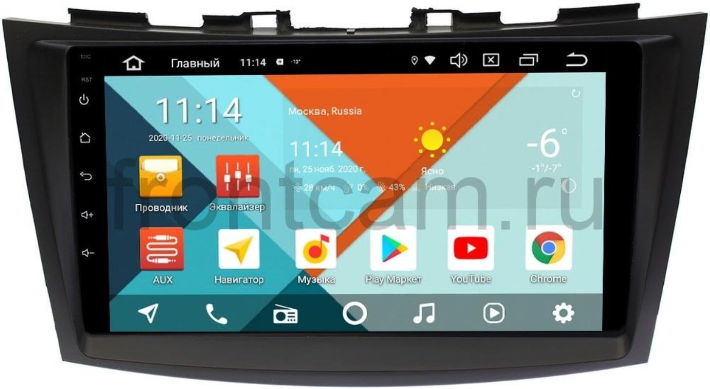 Штатная магнитола Suzuki Swift IV 2011-2017 Wide Media KS9102QM-2/32 DSP CarPlay 4G-SIM Android 10 (+ Камера заднего вида в подарок!)