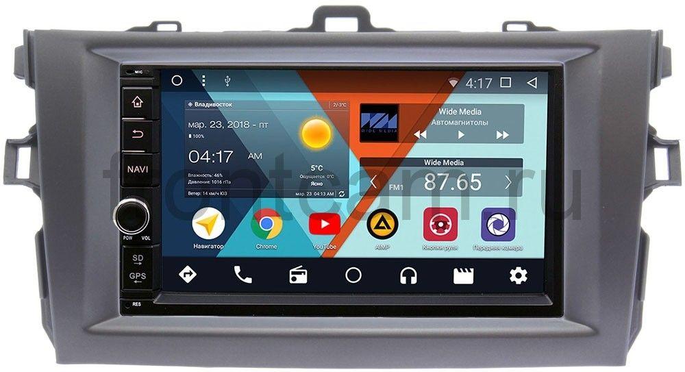 Штатная магнитола Wide Media WM-VS7A706NB-2/16-RP-TYCV14Xc-11 для Toyota Corolla X 2006-2013 (темно-серая) Android 7.1.2 (+ Камера заднего вида в подарок!) штатная магнитола wide media wm vs7a706 oc 2 32 rp chkm 36 для chery kimo a1 2007 2013 android 8 0 камера заднего вида в подарок