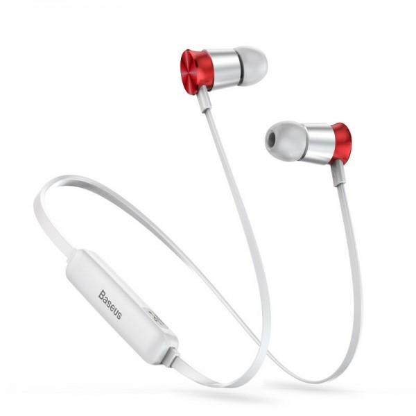 Наушники Baseus Encok Sports Wireless Earphone S07 Silver+Red