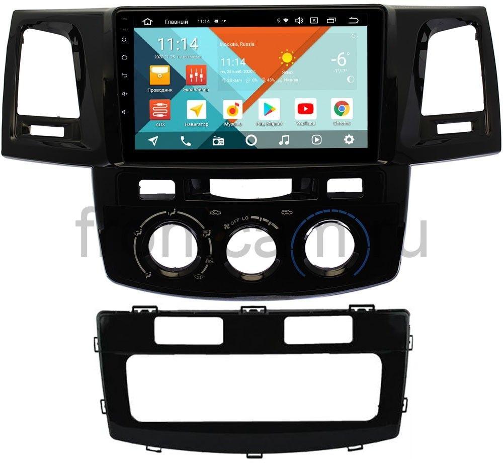 Штатная магнитола Toyota Hilux VII 2011-2017, Fortuner I 2005-2013 Wide Media KS9125QM-2/32 DSP CarPlay 4G-SIM Android 10 (+ Камера заднего вида в подарок!)