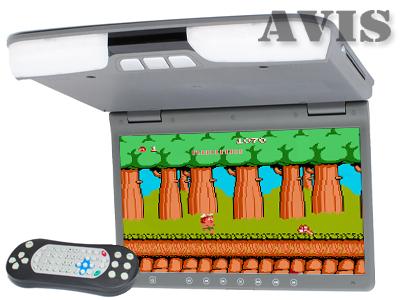 Автомобильный потолочный монитор 15,6 со встроенным DVD плеером AVIS AVS1520T (Cерый)
